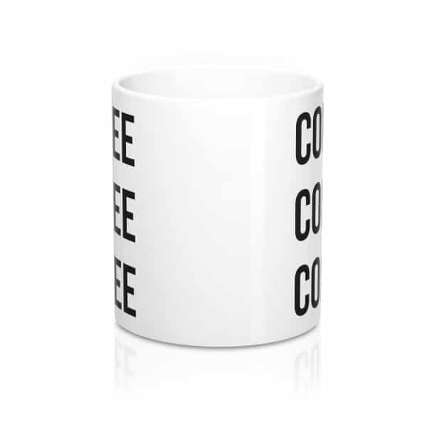 """Looking for the perfect gift for a coffee lover? You won't find anything better than this """"Coffee Coffee Coffee"""" mug!"""