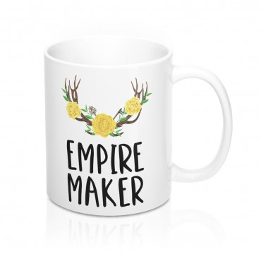 Empire Maker - Watercolor Mug For Entrepreneurs. Bloggers gift shop online business owners gift ideas.