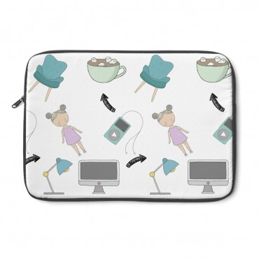 Bloggers custom design laptop cover. This laptop sleeve cover is the ideal gift for any blogger or entrepreneur! Perfect fit for a Mackbook or any other laptop (check sizing guide below). Get yours today!