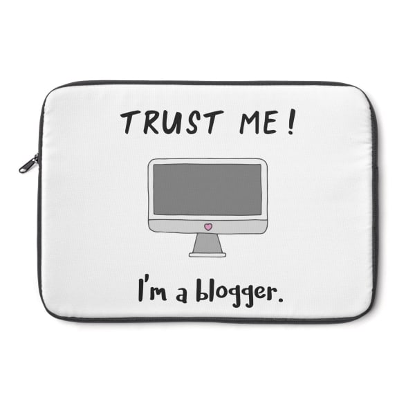 This laptop sleeve cover is the ideal gift for any blogger or entrepreneur! Perfect fit for a Mackbook or any other laptop (check sizing guide below). Get yours today!