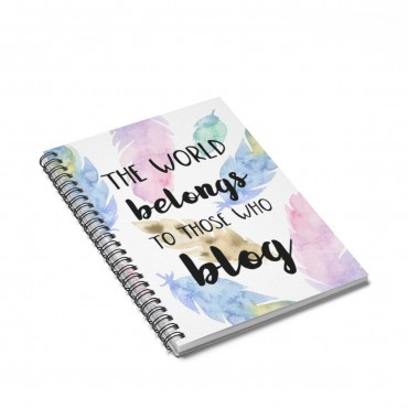 Notebook for bloggers - a gift idea. Every blogger (and planner addict) needs at least one notebook to write down their tasks and goals, and this blogging themed notebook is perfect for that!
