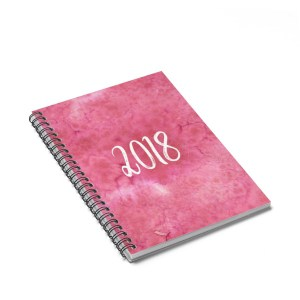 Every blogger, entrepreneurand planner addict needs at least one notebook to write down their tasks and goals. Add to cart today and start planning for your best year ever!2018 notebook.