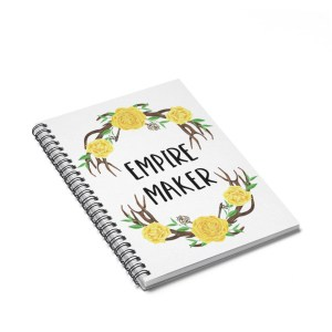 Every entrepreneur (and planner addict) needs at least one notebook to write down their tasks and goals, and this business-themed notebook is perfect for that! Empire maker notebook. Business gift idea for entrepreneurs.