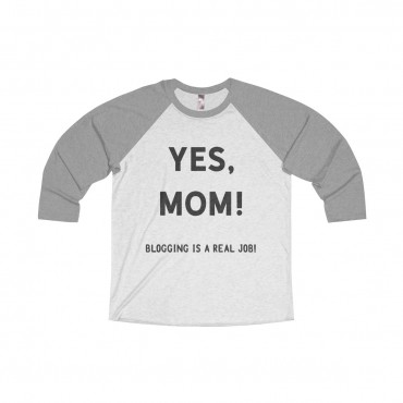 "Looking for a funny long-sleeve tee to give as a gift to a blogger friend, or to make yourself and make an impression? Look no further! Grab this ""Yes, mom. Blogging is a real job."" jersey."