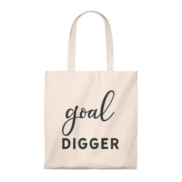 A classic vintage tote bag with a stylish handle (multiple colors) and a printed message for entrepreneurs that are passionate about their goals. Great gift idea for business owners and online creatives.  Add to cart today!