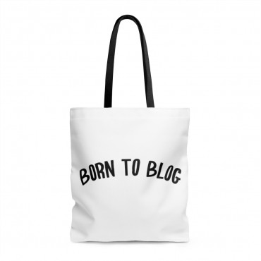 Born to blog tote bag. Gift idea for bloggers.