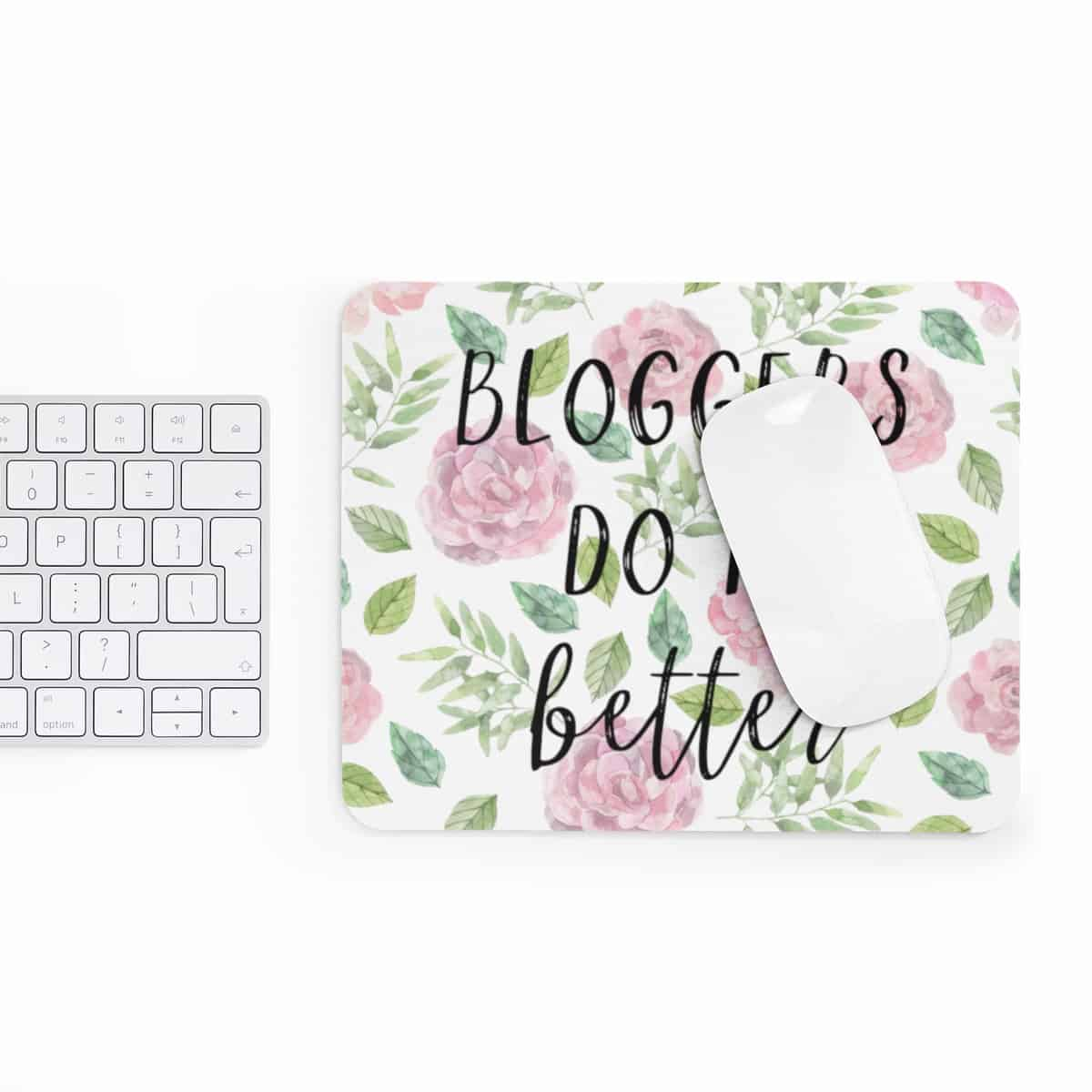 Watercolor designed mousepad for bloggers. In need of a new mousepad to brighten up your workspace and add some personality to your home desk? Check out our custom made Mouse Pad designs and get yours today!