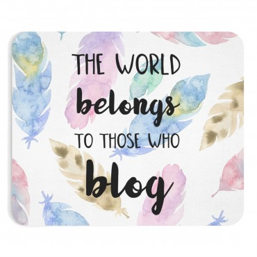 Blogging themed mousepad design for bloggers. In need of a new mousepad to brighten up your workspace and add some personality to your home desk? Check out our custom made Mouse Pad designs and get yours today!