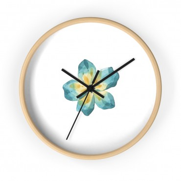 Wooden wall clock with watercolor lilly print. Make every second count with this minimalistic designed wall clock. This home decor accessory would make a great gift for any blogger or entrepreneur in your life that works from a home office!
