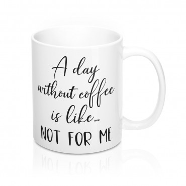 Coffee lover mug design. This calligraphy design mug is the ideal gift for any true coffee lover who has a sense of humor. Get it for yourself or make someone's day by adding this to cart now.