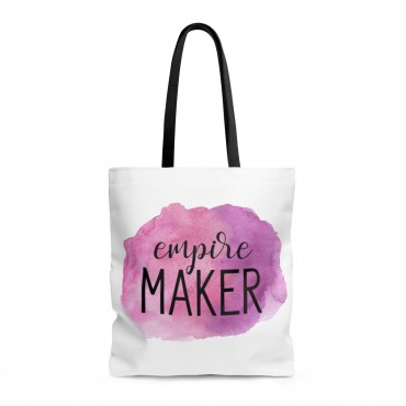 Did you know that tote bags make great gifts for any entrepreneur? Grab one for your friend (or for yourself) and wear it proudly. This watercolor designed bag goes with every outfit! Empire maker inspiration gift for business owners