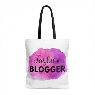 Are you a fashion blogger looking for a cute accessory to add color to your photoshoots? This watercolor designed tote bag goes with every outfit! Get yours today! Fashion Blogger tote bag.