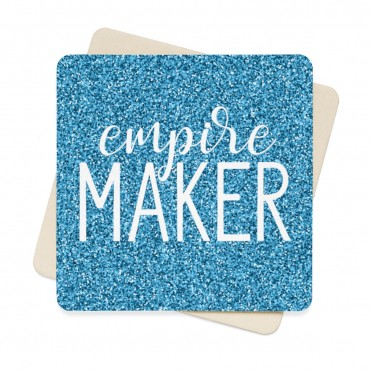 A stunning designed Empire Maker coaster set for entrepreneurs and online creatives who love to work with a cup of coffee or a glass of wine next to them at all times. Comes with 6 identical paper coasters.