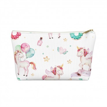 Need an accessory pouch to store your make-up or an adorable travel bag? If you're an online entrepreneur with a good sense of humour, you're going to love this double sided Adorable Badass printed pouch! Cute gift idea for business owners, gift guide for moms, mother's day gift idea, unicorn pattern from Blogging Mode.