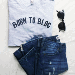 Born to blog tshirt for female bloggers. Proud to be a part of the blogging community? Show it off with this custom-made T-shirt for bloggers, available in multiple styles and sizes. Grab yours today!